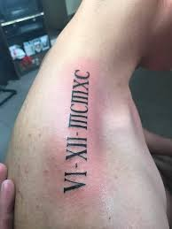 Roman Numerals Tattoo Amazing