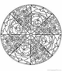 Pics Coloring Nature Mandala Pages About Free Printable Mandalas For Kids