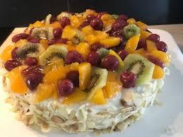 sahne obst torte