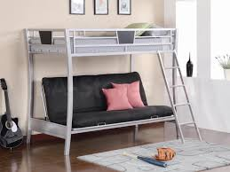 Bunk Bed Over Futon by Bedroom White Iron Frame Twin Over Futon Bunk Bed With Decorative