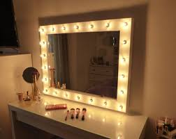lighted vanity mirror large makeup mirror with