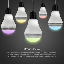 playbulb bluetooth speaker smart dimmable led light bulbs color