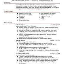 Resume Examples Software Developer