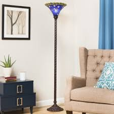Tiffany Style Torchiere Floor Lamps by Tiffany Style Blue Star Torchiere Free Shipping Today