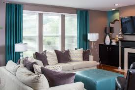 Grey And Turquoise Living Room Curtains by Color Aqua Curtains