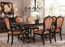Raymour And Flanigan Round Dining Room Tables by Regal Manor 7 Pc Dining Set Brown Multi Cherry Raymour