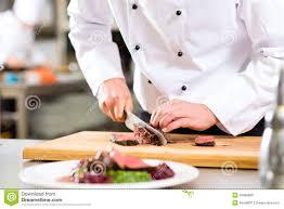 cuisine chef chef in restaurant kitchen preparing food stock photo image of