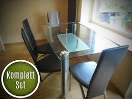 tisch stuhl sets aus glas mit bis 6 fürs esszimmer