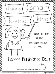 Trace FUNNY SMART LOVING And KIND In This Fathers Day Card For Daddy From His Girl