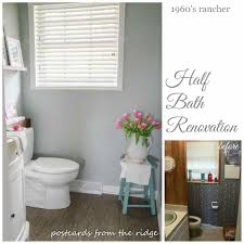 Half Bath Remodel Decorating Ideas by Diy Half Bathroom Remodel Half Wall Tile Ideas Home Decorating