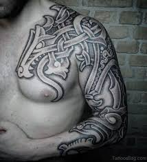 Nice Tribal Nordic Tattoo