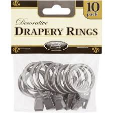 Walmart Curtain Rod Clips by Home Details Curtain Rings 10 Pack Walmart Com
