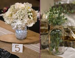 Mason Jar Barnyard Rustic Wedding Centrepieces