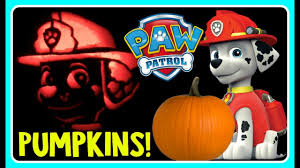 Funny Pumpkin Carvings Youtube by Paw Patrol Pumpkin Carving Marshall Pumpkin Carving Ideas For