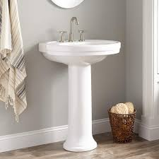18 Inch Width Pedestal Sink by Cruzatte Porcelain Pedestal Sink Bathroom