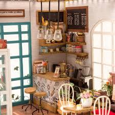 DIY Hawaii Villa Wooden Miniature LED Dollhouse Kit Creative
