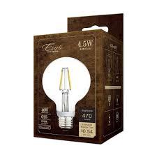 g25 led filament bulb 4 watt dimmable 40w equiv 470 lumens by euri