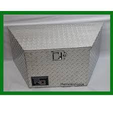100 Diamond Plate Truck Box Aluminum Tongue Tool 14X14X30 The Trailer Shoppe