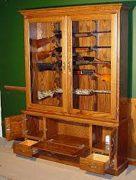 Wooden Gun Cabinet With Etched Glass custom and prototype gun display cabinets by scout products