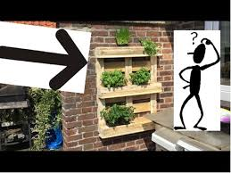 How To Make A Hanging Pallet Herb Garden