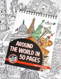 Around The World In 50 Pages Illustrated By Hasby Mubarok Adult ColoringColoring BooksColouringColoring PagesForget YouMoscowHong KongArt