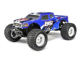 100 Losi Trucks TENACITY Monster Truck Blue AVC 110 4WD RTR ExcelRC