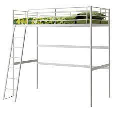 Minimalist Boys Bedroom Furnishings Using Metal Ikea Loft Bed