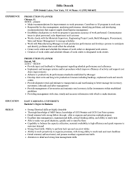 Production Planner Resume Samples