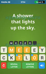What The Riddle 100 Riddles Riddle 88 A Shower That Lights Up The