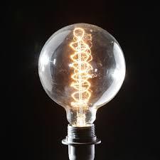 vintage light bulb 12cm retro edison large corkscrew globe