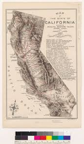 Map Of The State California Showing Principal Mountains Valleys Rivers Lakes And