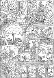 Colouring Pages Jungle Scene 1599 Best Adult Coloring Images On Pinterest