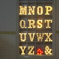 Letter Light L Vintage Letter Lights UK Alphabet Light Up Letters