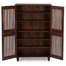 Baxton Studio Shoe Cabinet White by Amazon Com Wholesale Interiors Baxton Studio Fernanda Modern And
