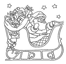 Download Coloring Pages Santa Christmas Sleigh Printable