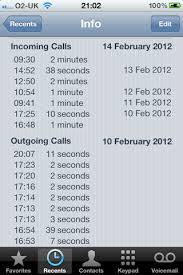 iphone How can I see the call history from one month ago Ask