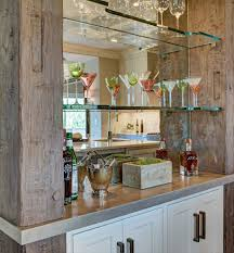 Bar Shelves Home Traditional With Rustic Chic Glass