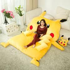 2017 New Japan Anime Stuffed Giant Pikachu Bed Plush Sofa Mattress