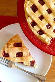 jam filled crostata italian pie