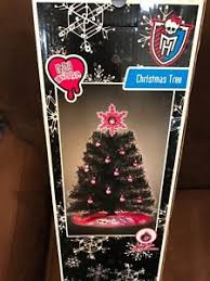 Image Is Loading MONSTER HIGH 24 BLACK CHRISTMAS TREE WITH PINK