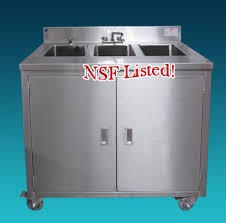 Mobile Self Contained Portable Electric Sink by Mobile Portable Hand Sink 1 3 And 4 Compartment Self Contained