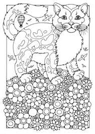 Instant Download Cat And Cupcake Art Coloring Page Cute Fun Funky