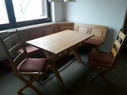 gebrauchte möbel eckbank mit rundem tisch incl 2 stühlen