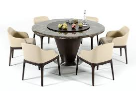 100 Dining Room Chairs With Oak Accents VIG Modrest Margot Brown Marble Round Table Dallas TX