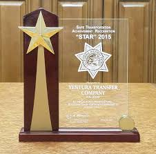 100 Star Trucking Company VTC Won STAR Award From California Highway Patrol Ventura