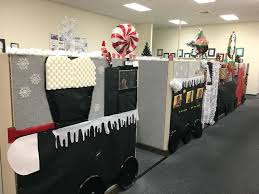 Polar Express Door Decorating Ideas by 100 Christmas Cubicle Decorating Contest Rules Office