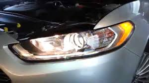 2014 ford fusion testing headlights after changing bulbs low