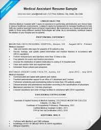 Certified Medical Assistant Resume Examples