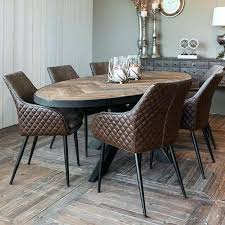 Industrial Dining Room Sets Oak Parquet Oval Table Style Set