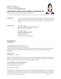 Resume Examples For Rn Jobs With Job Description Nurse Sample Nursing Assistant To Prepare Cool Cv